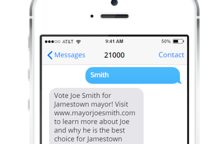 Politicians Use Text Messaging to Reach Voters