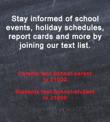 example school text message flyer