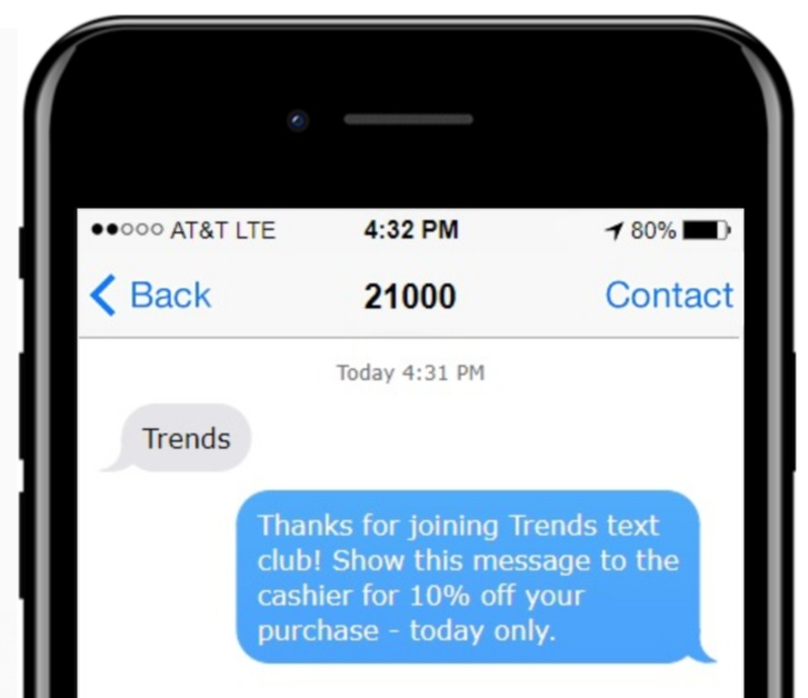 text marketing for retail